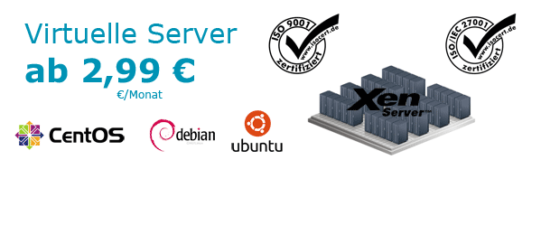 Virtuelle Server Angebote ab 2,99 Euro